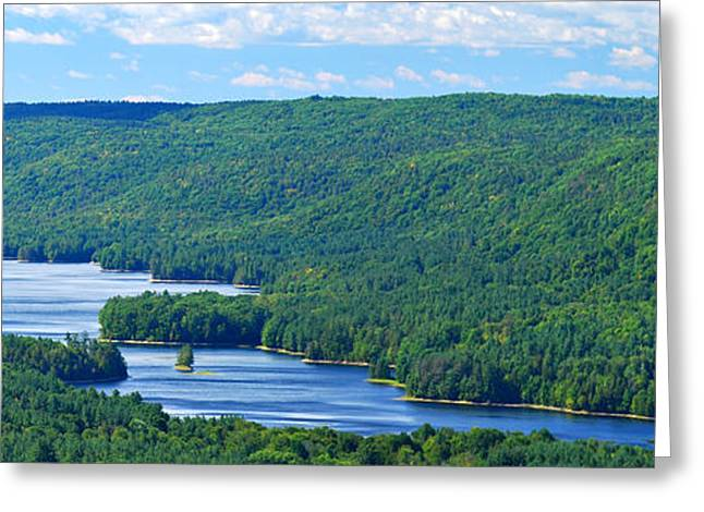 Summer Landscape Greeting Cards - Barkhamsted Reservoir Greeting Card by HD Connelly