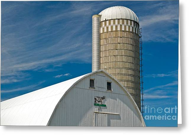 Dairy Barn Greeting Cards - Barn And Silo Greeting Card by Richard and Ellen Thane
