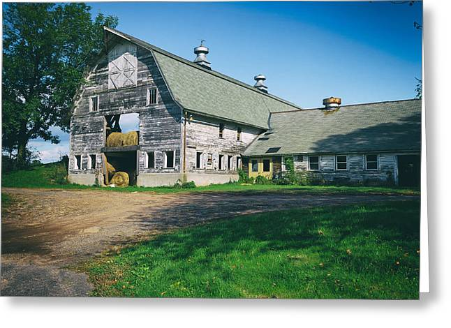 Hayloft Greeting Cards - Barn in Rural Connecticut Greeting Card by Mountain Dreams