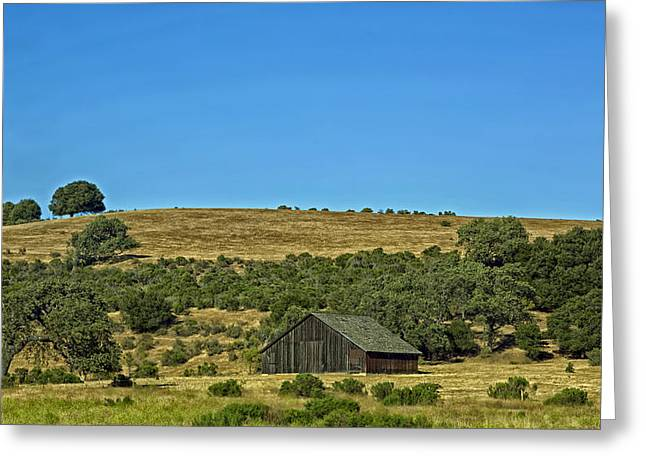 Wooden Building Greeting Cards - Barn in the Valley Greeting Card by Mountain Dreams