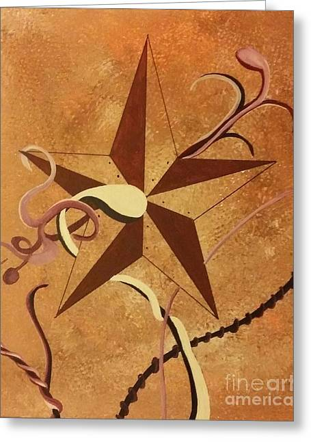 Etc. Paintings Greeting Cards - Barn Stars Greeting Card by Ems Colon
