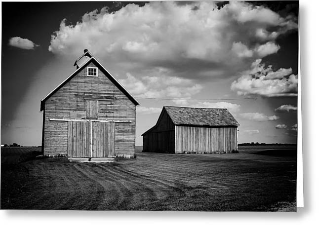 Illinois Barns Photographs Greeting Cards - Barns in Illinois Greeting Card by Mountain Dreams