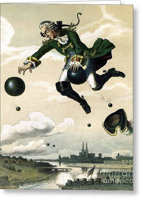 Maynard Dixon Greeting Cards - Baron Munchausen  Greeting Card by Celestial Images