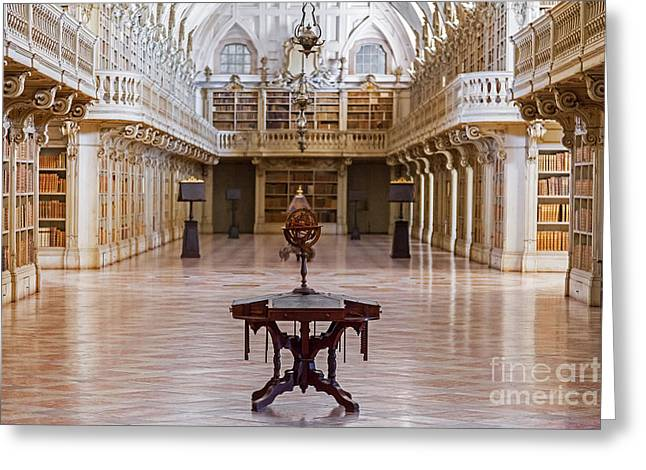 Mafra Greeting Cards - Baroque Library  Greeting Card by Jose Elias - Sofia Pereira