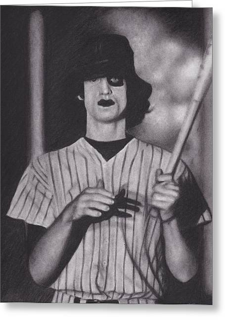 Baseball Bat Drawings Greeting Cards - Baseball Furies Greeting Card by Brittni DeWeese