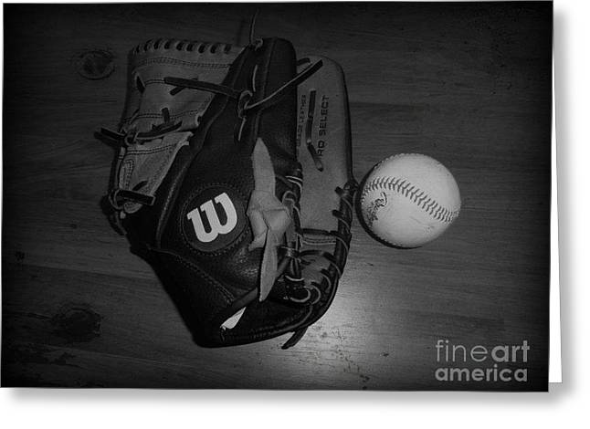 Baseball Greeting Card by Meagan Hoelzer