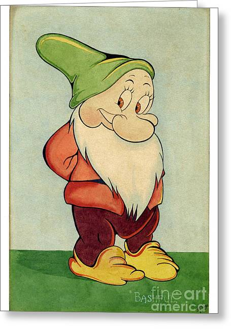 1937 Movies Greeting Cards - Bashful Greeting Card by John Chatterley