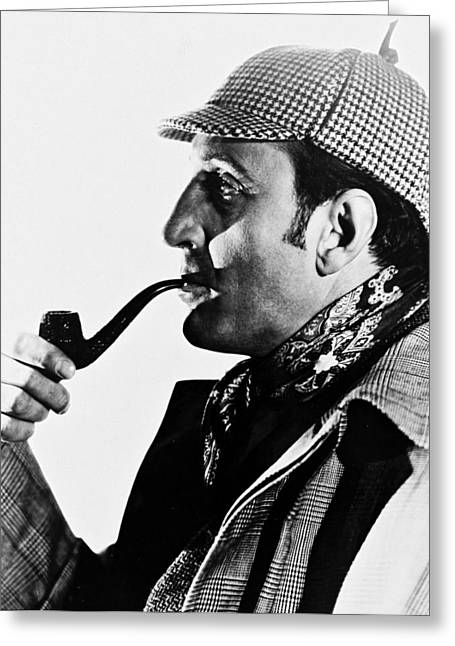 Basil Greeting Cards - Basil Rathbone Greeting Card by Silver Screen
