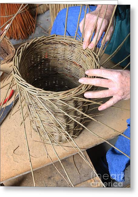 Basket Maker Greeting Cards - Basket Making Greeting Card by Paul Felix