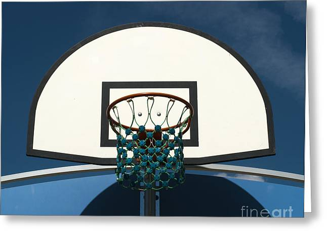 Basket Ball Game Greeting Cards - Basketball basket Greeting Card by Deyan Georgiev