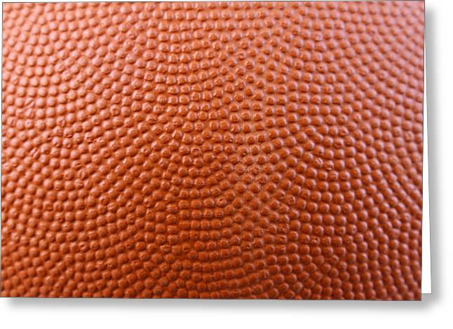 Textured Background Greeting Cards - Basketball texture Greeting Card by Les Cunliffe