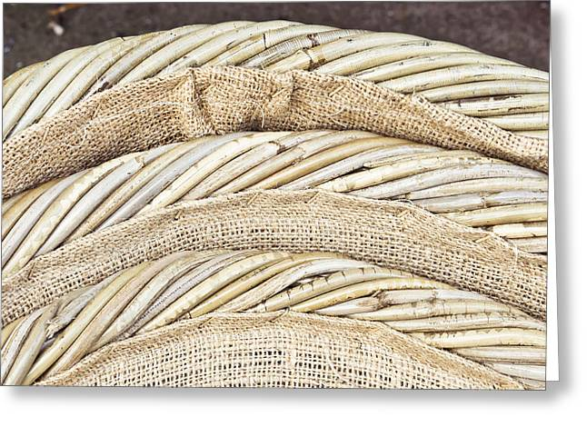 Layer Greeting Cards - Baskets Greeting Card by Tom Gowanlock