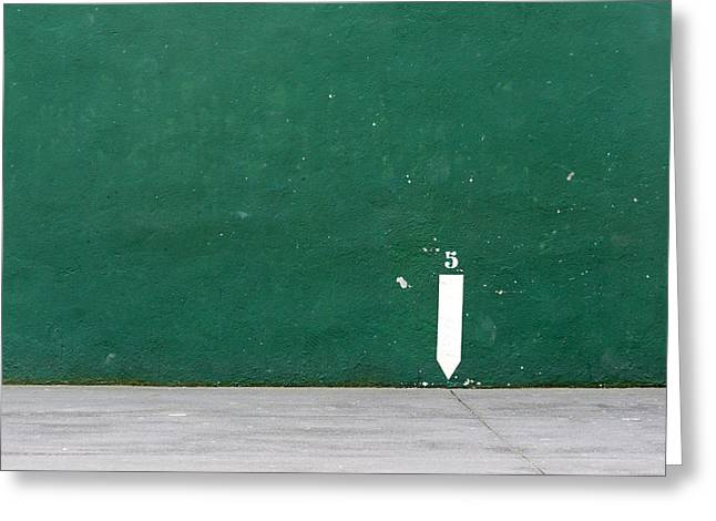 Cement Court Greeting Cards - Basque Pelota Court Fronton Greeting Card by Mikel Martinez de Osaba