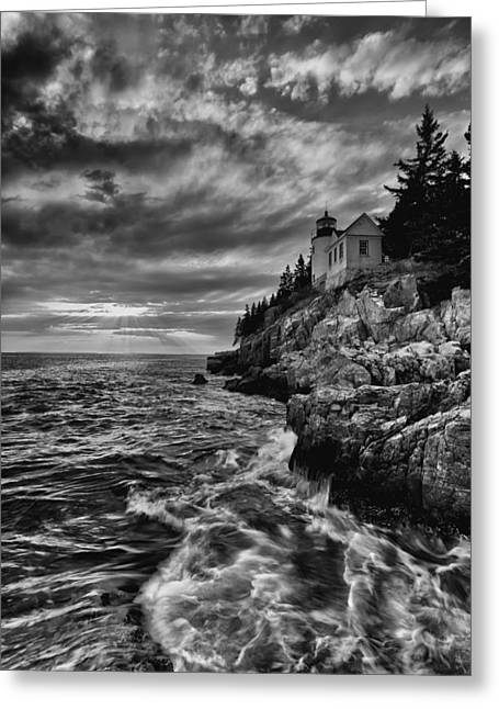 Bass Harbor Lighthouse Greeting Cards - Bass Harbor Greeting Card by Chad Tracy