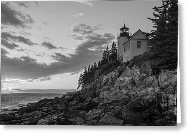 Ver Sprill Photographs Greeting Cards - Bass Harbor Head Light Sunset  Greeting Card by Michael Ver Sprill