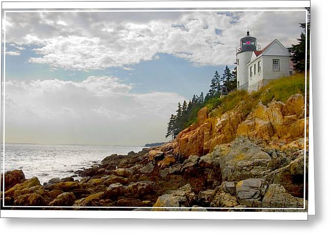 Maine Lighthouses Digital Greeting Cards - Bass Harbor Head Lighthouse Greeting Card by Mike McGlothlen