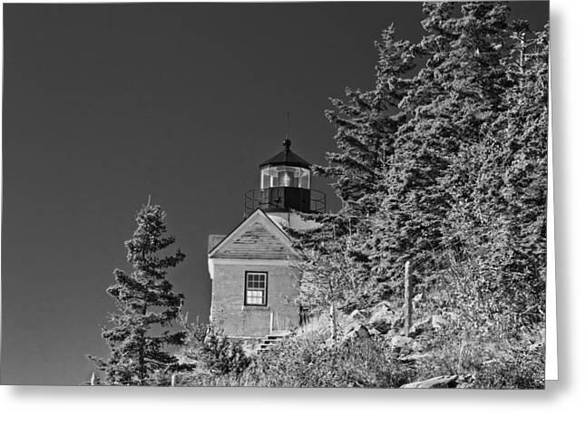 Fish Digital Art Greeting Cards - Bass Harbor Lighthouse Mount Desert Island Maine Greeting Card by Keith Webber Jr