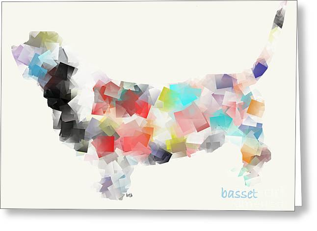 Basset Hound Prints Greeting Cards - Basset Hound Greeting Card by Bri Buckley
