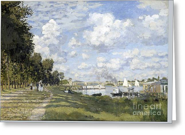 Vintage Painter Greeting Cards - Bassin dArgenteuil Greeting Card by Claude Monet