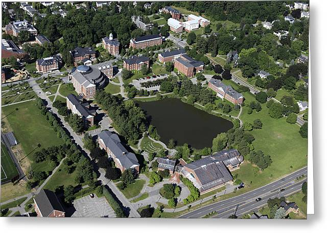 Self-knowledge Greeting Cards - Bates College, Lewiston Greeting Card by Dave Cleaveland