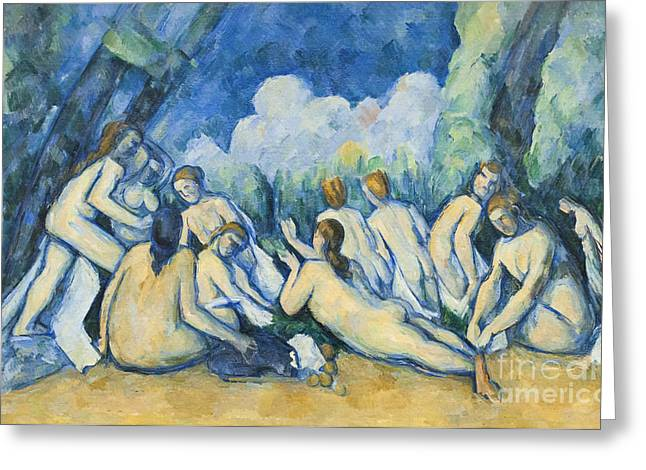 Baigneuses Greeting Cards - Bathers by Paul Cezanne Greeting Card by Roberto Morgenthaler