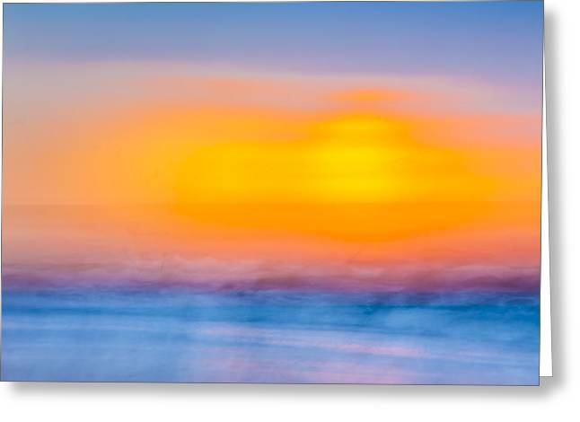York Beach Greeting Cards - Bathing Corp Sunrise 6 Greeting Card by Ryan Moore