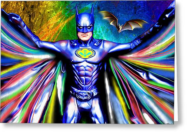 Gotham City Paintings Greeting Cards - Batman Greeting Card by Daniel Janda