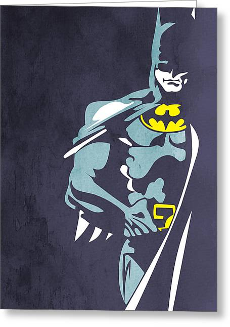 Unique Art Greeting Cards - Batman  Greeting Card by Mark Ashkenazi