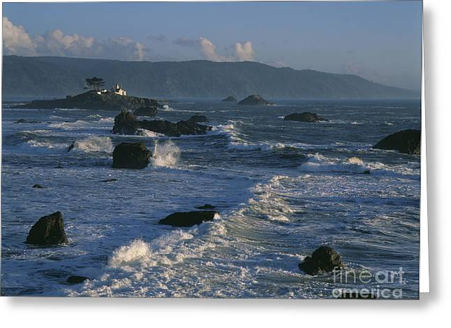 Attraction. Battery Point Lighthouse Greeting Cards - Battery Point Lighthouse at sunset Greeting Card by Jim Corwin