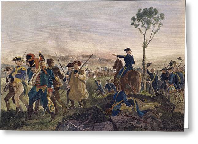 Ambition Greeting Cards - Battle Of Bennington, 1777 Greeting Card by Granger
