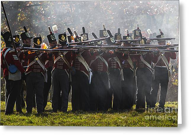 Bluecoat Greeting Cards - Battle of Cooks Mills Greeting Card by JT Lewis