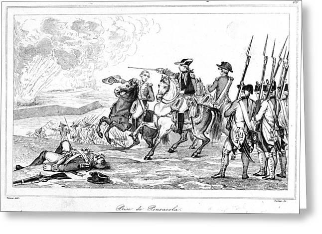 Bayonet Greeting Cards - Battle Of Pensacola, 1781 Greeting Card by Granger