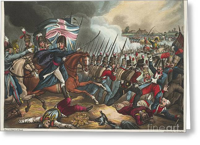 Doctor J Greeting Cards - Battle Of Waterloo Greeting Card by British Library