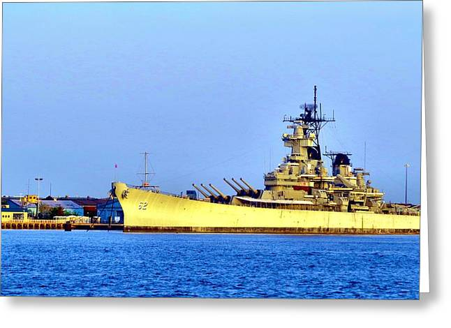 Phillies Framed Prints Greeting Cards - Battleship Greeting Card by Michelle Milano