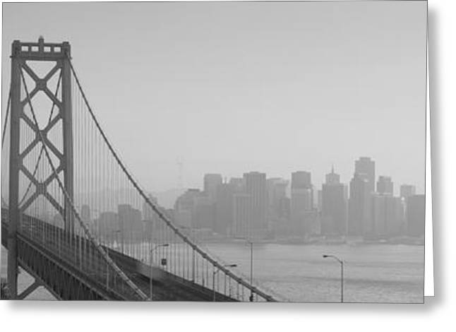 Financial District San Francisco Greeting Cards - Bay Bridge, Skyline, City, San Greeting Card by Panoramic Images