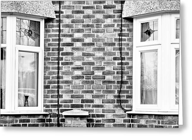 Glaze Greeting Cards - Bay windows Greeting Card by Tom Gowanlock