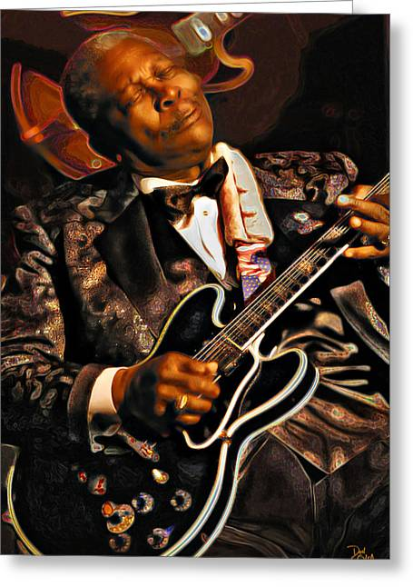 Rolling Stones Photographs Greeting Cards - BB King Greeting Card by Don Olea