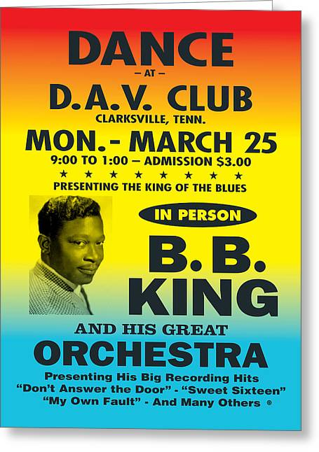Decorative Greeting Cards - BB King Greeting Card by Gary Grayson