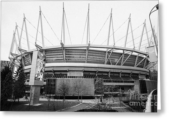 North Vancouver Greeting Cards - BC place home of the CFL BC lions and MLS Vancouver Whitecaps BC Canada Greeting Card by Joe Fox