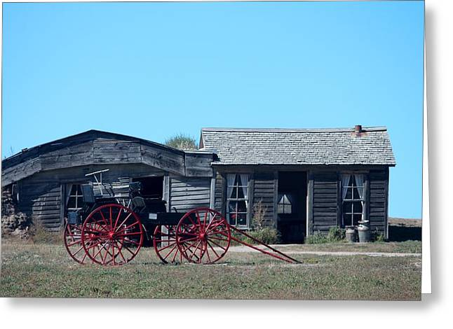 Ghostly Barn Greeting Cards - Badlands N P  30 Greeting Card by Nelson Skinner