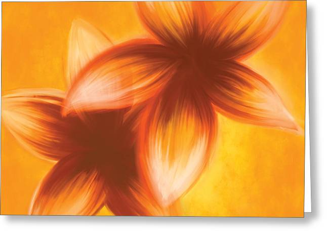 Floral Digital Drawings Greeting Cards - Be Happy Greeting Card by Go Inspire Beauty