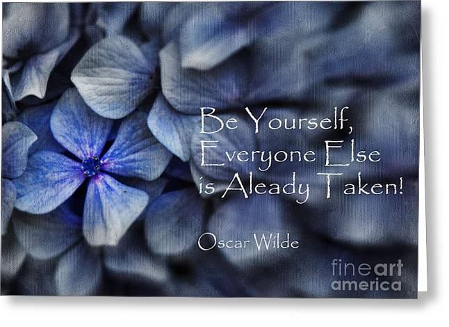 Be Yourself Greeting Card by Karen Lewis