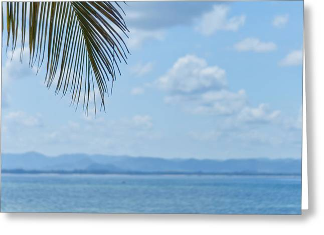Blue Green Wave Greeting Cards - Beach Background Greeting Card by Antony McAulay