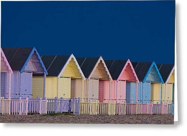 Essex Greeting Cards - Beach Huts Greeting Card by Martin Newman