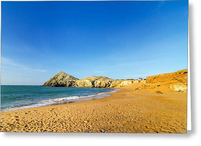 Vela Greeting Cards - Beach in La Guajira Colombia Greeting Card by Jess Kraft