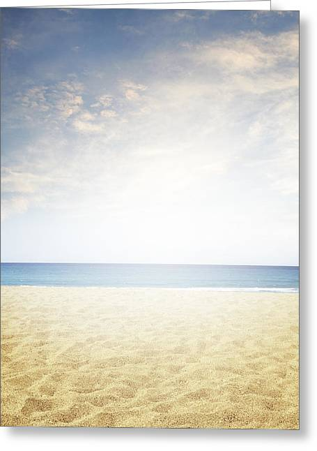 Beach Photographs Greeting Cards - Beach light Greeting Card by Les Cunliffe