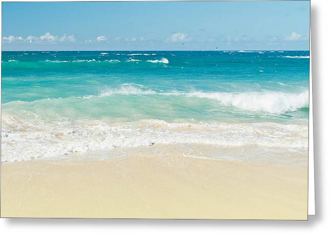 Surface Tension Greeting Cards - Beach Love Greeting Card by Sharon Mau