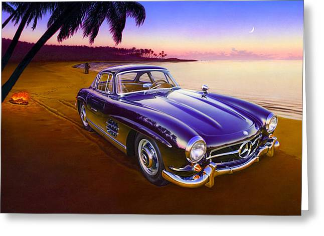 Andrews Greeting Cards - Beach Mercedes Greeting Card by Andrew Farley