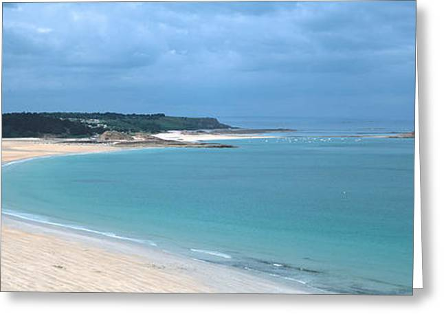 Les Greeting Cards - Beach Of Sables-dor-les-pins Near Cap Greeting Card by Panoramic Images