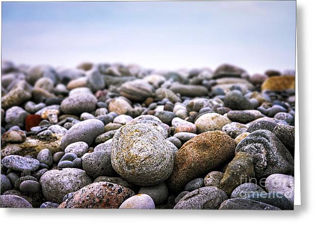 Pebbles Greeting Cards - Beach pebbles Greeting Card by Elena Elisseeva